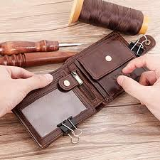 Cobbler Legend <b>Black Cow</b> Genuine <b>Leather Men</b> Wallets Short 100 ...
