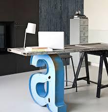 Furniture: Letter Leg Workspace Desk - DIY Table Design