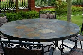 round stone top dining table round top slate outdoor stone patio dining table stone top dining