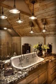 rustic bathroom lighting fixtures. Rustic Bathroom Light Fixtures For Traditional Design: Wood Wall Design Ideas With Lighting