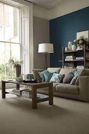 calming living room: feels like home ** Color scheme - grey couch and blue