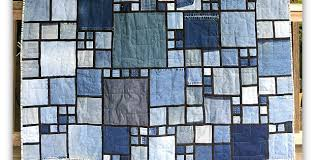 Stained Glass Quilt Pattern Amazing Old Denim Makes A Wonderful Stained Glass Quilt Quilting Digest