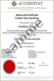 samples of certificates sample certificates training providers accreditat