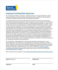 Employee Confidentiality Agreement 9+ Employment Agreement Form Samples - Free Sample, Example Format ...