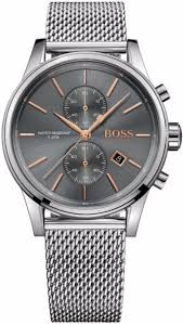 men s hugo boss jet steel mesh strap chronograph watch 1513440