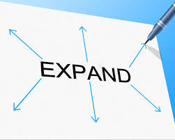 increase size big expand represents increase in size and enlarge stock
