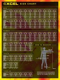Wetsuit Chart Xcel Wetsuit Size Chart Moment Surf Company