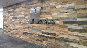 nordco remodel featuring all natural prefab pallet wood wall panels reclaimed