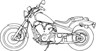 Coloriage Moto Honda Imprimer