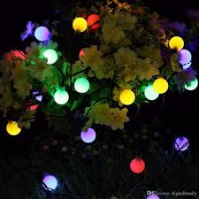 2018 solar globe 50 led ball string lights solar power patio lights light lighting for home garden lawn party decorations from digitalfamily