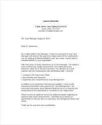 Example Cover Letter For First Job Case Manager Cover Letter 7 Examples In Word Pdf