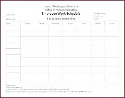 Employee Shift Restaurant Work Schedule Template Employee Weekly Printable