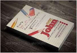 50 Ideal Teacher Business Cards Templates 2018 Templatefor