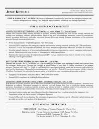 20 Firefighter Resume Free Template Best Resume Templates