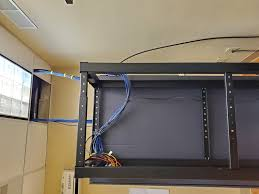 best way to run cable into this rack