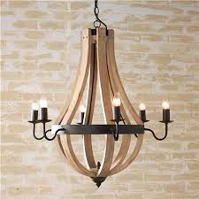 vineyard metal and wood chandelier metal and wood chandelier modern vineyard 6 light with seeded glass