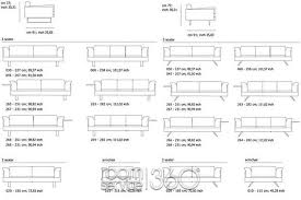 modern standard couch length standard size of 3