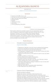 Promotional Resume Sample Enchanting Event Coordinator Resume Samples VisualCV Resume Samples Database