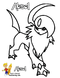 Small Picture Pokemon Coloring Pages Absol Es Coloring Pages