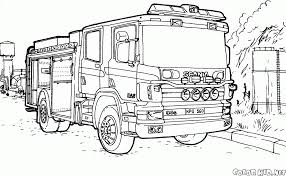 Coloriage Camion De Pompiers Scania