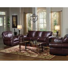 Top Grain Leather Living Room Set Kingston Top Grain Leather Sofa Loveseat And Recliner Living Room