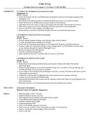 Conference Manager Sample Resume Conference Manager Resume Samples Velvet Jobs 5