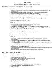 Conference Manager Resume Samples Velvet Jobs