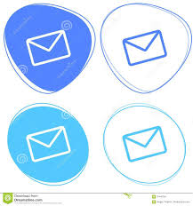 Email Light Set Of Blue Mail Icons Email Sent New Email Icon Stock