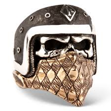 mive skull ring made from solid sterling silver es with a second bandana ring made from bronze evilrings