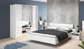 Schlafzimmer Set Komplett 4 Teilig Weiß Weiß Hochglanz Neu