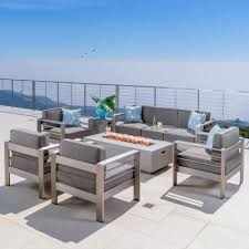 seats 6 people fire pit patio sets