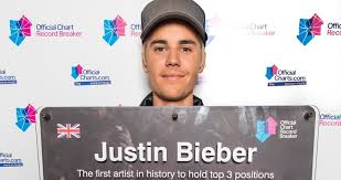 Justin Bieber Full Official Chart History Official