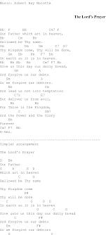 The Lords Prayer Christian Gospel Song Lyrics And Chords