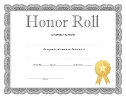 Ideas Collection High School Honor Roll Certificate Template With