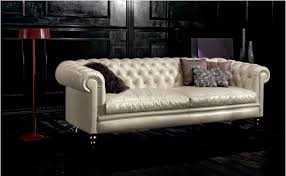 chesterfield sofa leather 3 seater beige kensington
