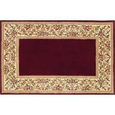 30 x 50 ruby series wool hearth rug ruby with fl border