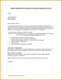 termination letter template employee termination letter template free template employment
