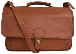 coach briefcase men s messenger cross vintage laptop bag image 0