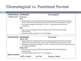 Functional Vs Chronological Resume Free Resume Templates 2018