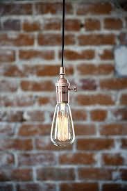 industrial plug in pendant light copper bare bulb socket bulb plug in pendant lighting plug in