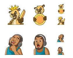 How To Design Emotes For Twitch Create Custom Cool Twitch Emotes Icons Sub Badges Emoji