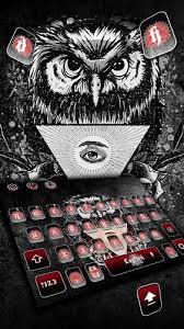 <b>Black Angry Owl</b> Keyboard Theme for Android - APK Download