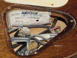 vintage guitars info gretsch collecting vintage guitars some of the wiring has been replaced on this gretsch which is very common on 1950s gretsch models often the wire s insulator cracks shorting the wires