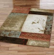brown and green rugs uk