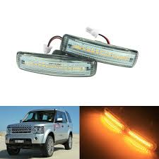 Discovery 1 Lights Us 14 09 6 Off Angrong 2x Amber Led Side Repeater Indicator Lights For Land Rover Discovery 3 4 Freelander 2 In Signal Lamp From Automobiles