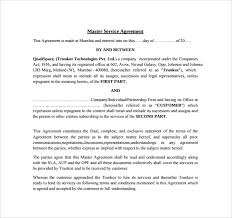 Simple Master Service Agreement Template Simple Service Contract