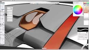 Car interior sketch_Sketch Book Pro
