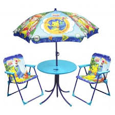 Ensemble salon de jardin enfants - Winnie l'Ourson - Table + Parasol ...