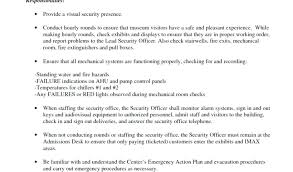 Sample Security Officer Resume Security Officer Resume Template Security Report Example And Armed