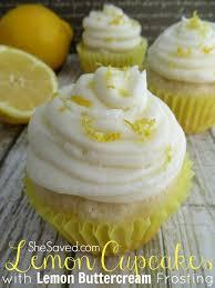 Lemon Cupcakes With Lemon Buttercream Frosting Shesaved